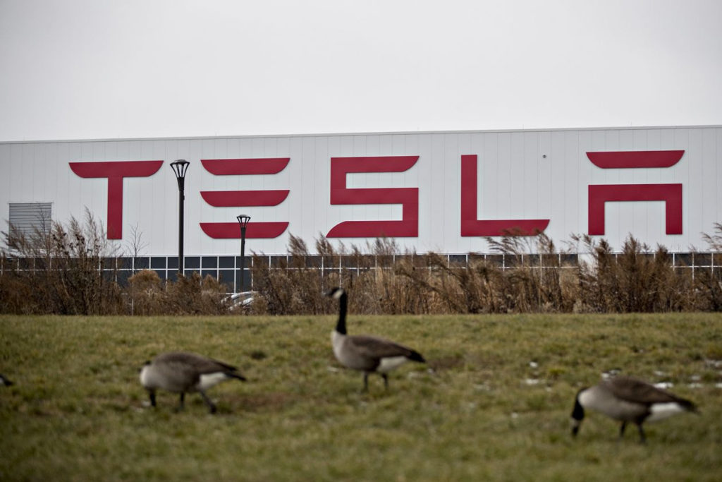Tesla factory outside